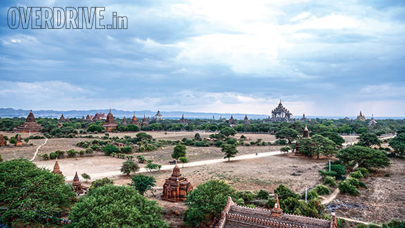 The bagan ruins - around 2,200 temples are left over from the 13th century, when there were actually over 10,000 of these