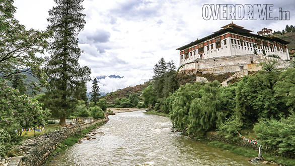 The Rinpung Dzong is a large fortress monastery that towers over the city of Paro
