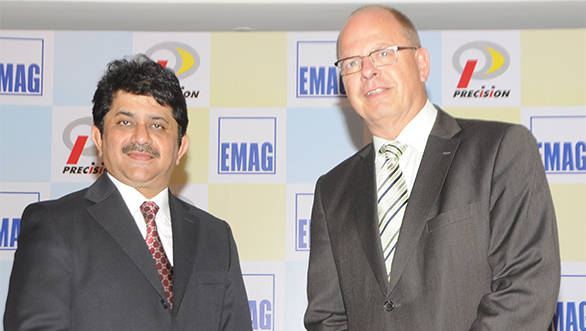 Yatin Shah, Chairman and MD, Precision Camshafts Limited with Andreas Mootz, MD, EMAG Automation, Germany