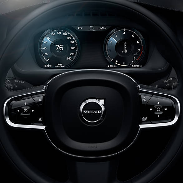 Steering wheel and instrument panel