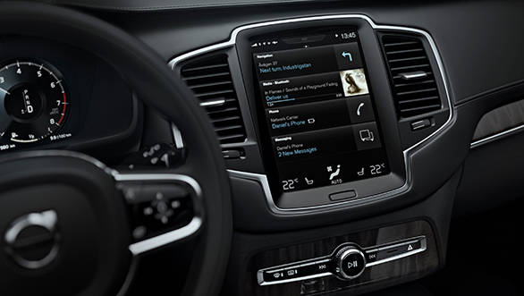 Central touch screen infotainment panel