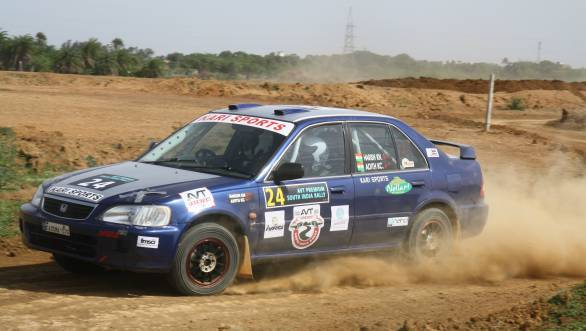 Adith KC and Harish won the FMSCI 1600 Cup in their Honda City
