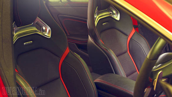 Sport bucket seats are specially developed by Recaro. They look stunning and are comfortable too