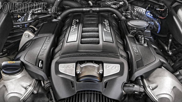The Porsche's smaller twin turbo 4.8 litre V8 makes less power than the AMG but matches it on torque. The 8-speed gearbox is much quicker and more enjoyable to use