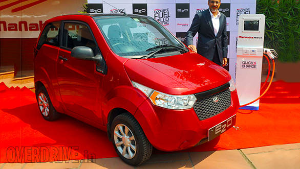 Chetan Maini, founder and CEO of Mahindra Reva Electric car with the updated e20