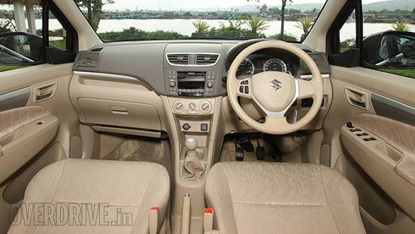 The Ertiga's interiors look and feel far nicer than the Honda's