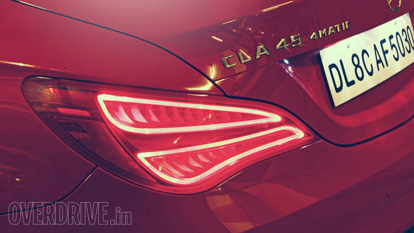 LED taillamps and design lend the CLA a unique character. Note AMG badging