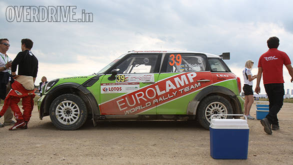 The only Mini Cooper S2000 around, it was fourth place for Valeriy Gorban in the WRC2 category