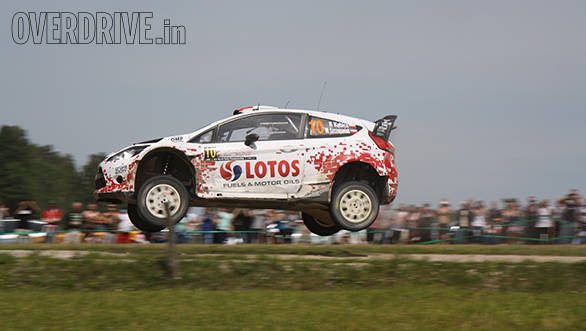 Robert Kubica was cheered along by hordes of Polish fans, who, needless to say were disappointed when the M-Sport Ford driver lost a wheel on SS17