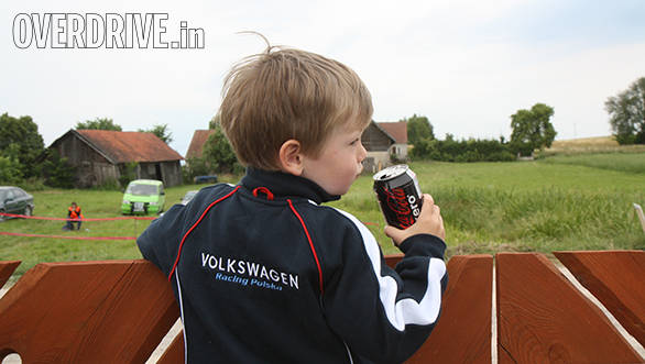 Rally fans evidently start very young and this one even predicted that Kubica would crash