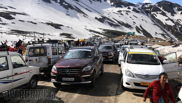 Every summer, Rohtang pass receives a bevy of visitors from all over