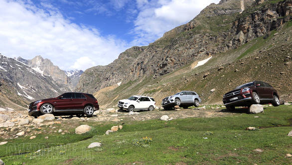 The Spiti valley landscape makes for the perfect backdrop for these muscle machines