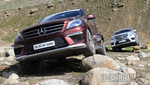 The ML 63 AMG may be an SUV meant for the tarmac, but comes through on this off-road challenge