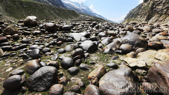 Massive boulders make a major part of the country side, especially down at the river side