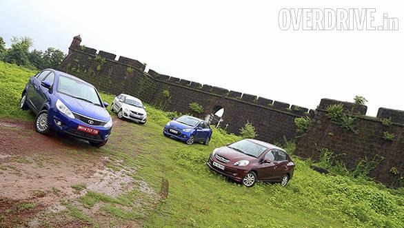Tata Zest Quadrajet AMT vs Honda Amaze i-DTEC vs Hyundai Xcent CRDi vs Maruti Suzuki Swift Dzire DDiS