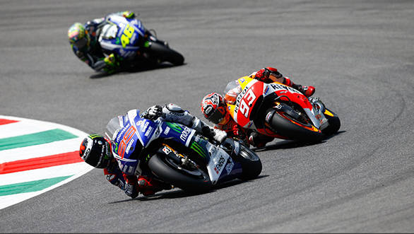 Lorenzo pushed Marquez hard for the win while Rossi had the best seat in the house at Mugello