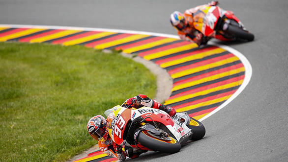 Pedrosa gave his all in Sachsenring but still couldn't catch the number 93