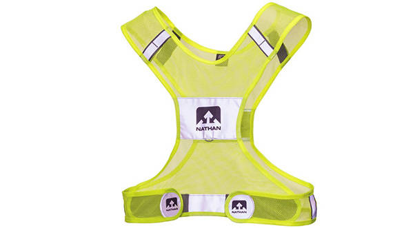 This is a more stylish version of a reflective safety vest that I like to use out on the highway for extra visibility. I bought this one - the Nathan Streak a runner's vest on amazon.com