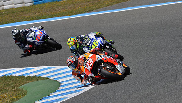 In Jerez it was Rossi again who took the fight to Marquez