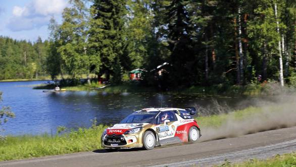 Kris Meeke was the best of the rest making it to the podium in his Citroen