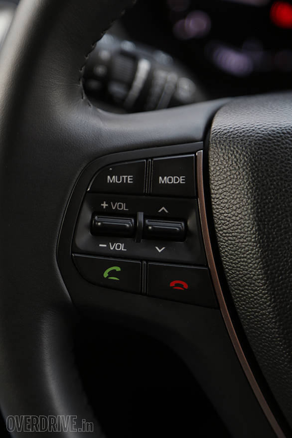 Steering mounted controls for audio and telephony...