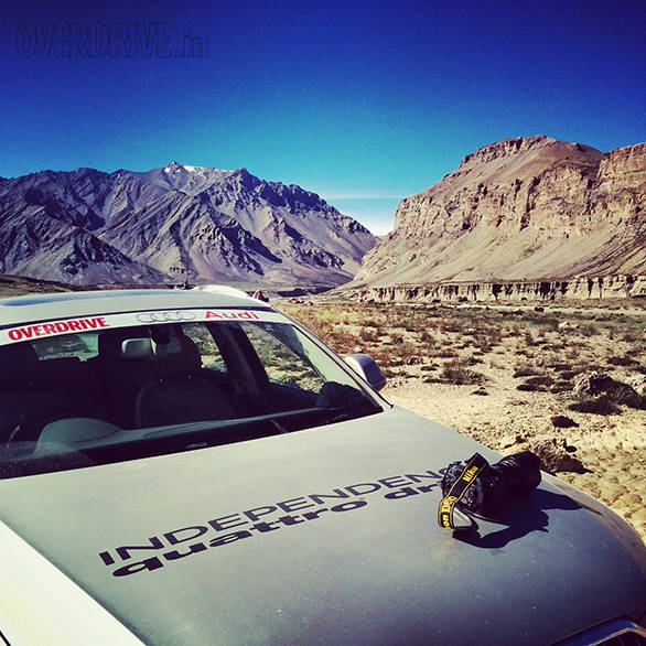 Ladakh, wide-eyes and cameras are a natural combination. And as we've happily discovered, the Audis fit right in as well!