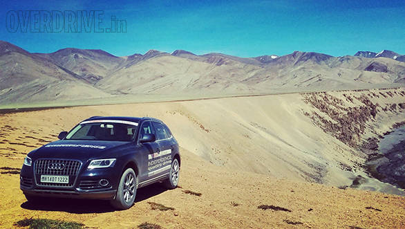 One of our Audis waits patiently while we walk about trying desperately to capture the magnificence of Ladakh