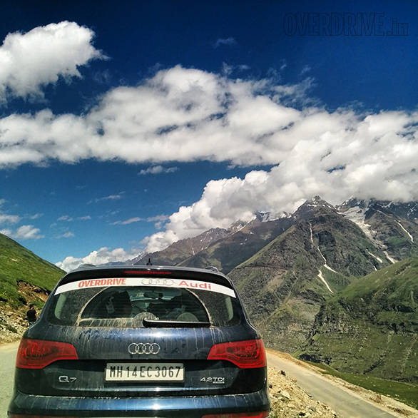 As soon as you cross the busy, dirty Rohtang Pass, civilisation just ends. What you're greeted with is this sight of impossibly blue skies, green and brown mountains with fingers of snow clasping them tight. You'll find it hard to breathe and not because of the altitude for once