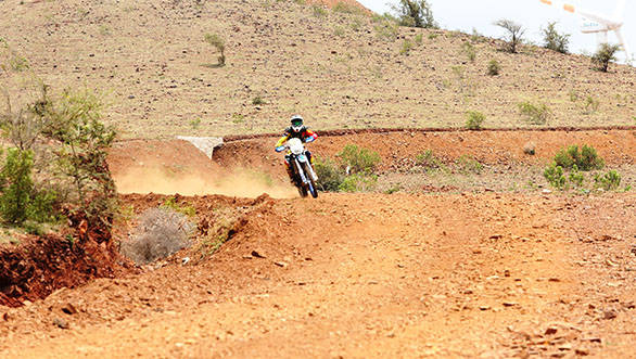 Natraj on his bike, swerves his way to the top
