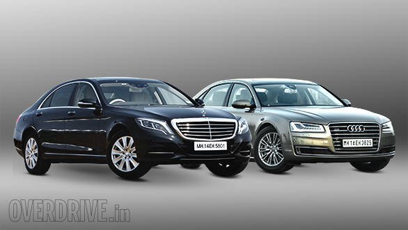 2014 Mercedes-Benz S350 CDI vs Audi A8L 3.0TDI in India