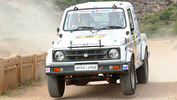 Suresh_Rana_racing_away_to_the_third_position