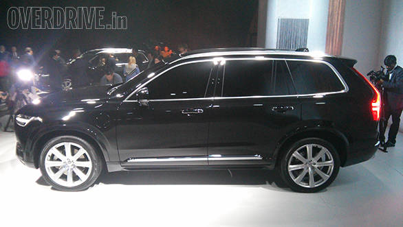 The new XC90 is longer, taller and also lower than the current model
