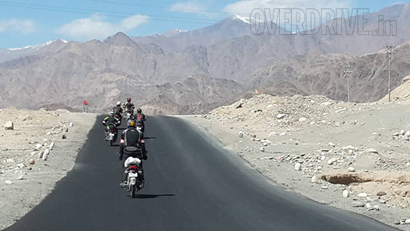 Entering Leh Rise Above Ride