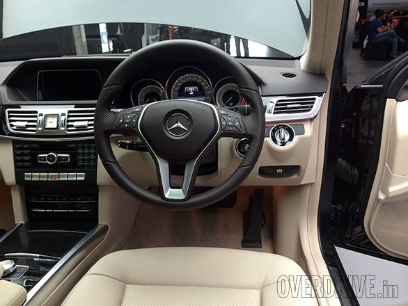 The interior is carried over from the E200 and E250. The audio system is a Harman Kardon one