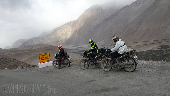 Himalayan ride on a 100cc commuter