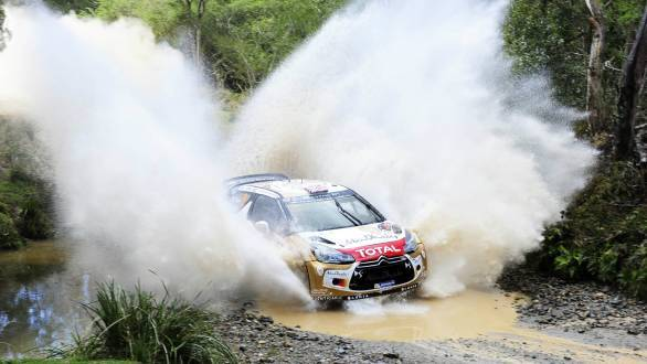 Strongest performance of the season so far for Kris Meeke, who led four laps of the rally before the Volkswagen drivers caught up