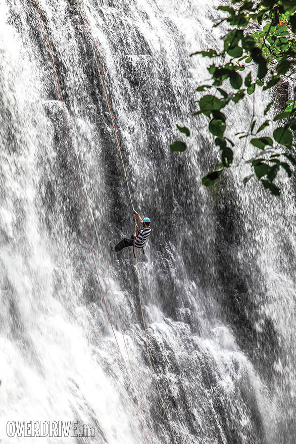 All I could see, looking up, was the rope disappearing back over the top edge of the cliff and the wall of water rushing over me