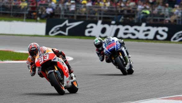 Marquez's move on Lorenzo appeared to be rather aggressive, although it seems there's no love lost between the pair
