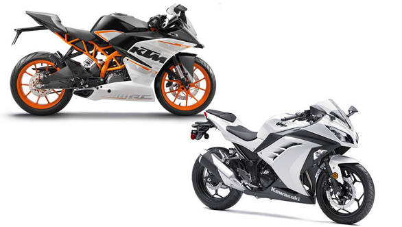 Spec comparison: KTM RC 390 vs Kawasaki Ninja 300