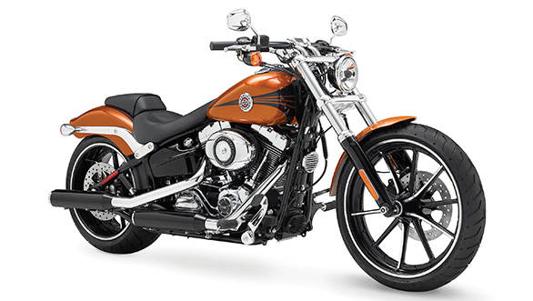 The Breakout's styling is based on a drag-racing style motorcycle