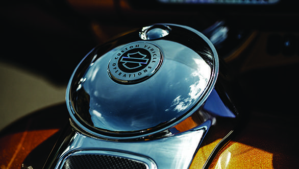 Harley chrome is legendary and the CVO Limited has absolutely acres of it.