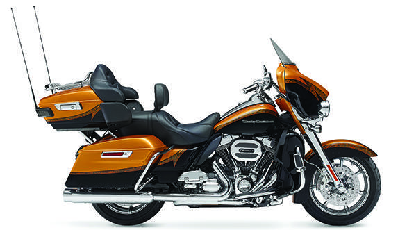 The paint and decals are custom and identify the motorcycle as a CVO