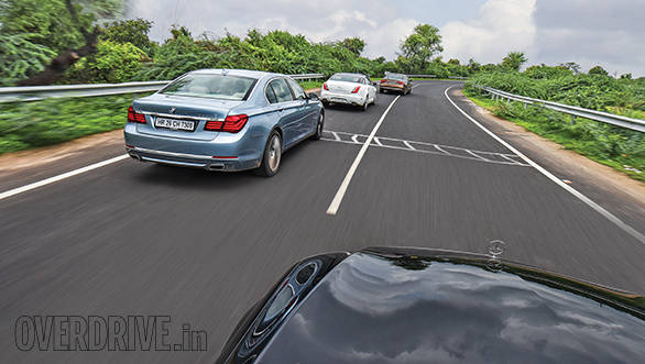 Audi A8 L vs BMW ActiveHybrid 7L vs Jaguar XJ L vs Mercedes-Benz S350 CDI 3