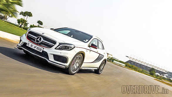 Mercedes benz gla 45 amg india road test overdrive for Mercedes benz gla india
