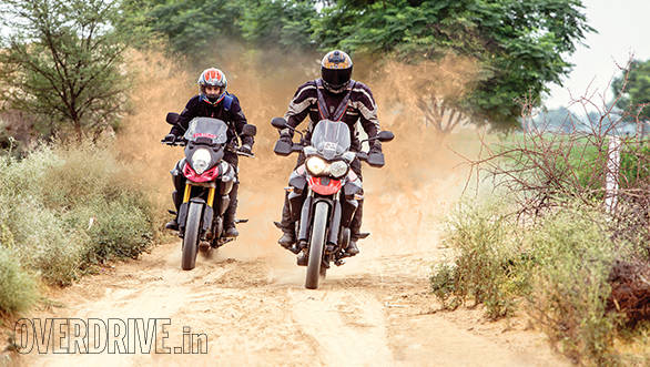 Tiger vs V-Strom Bathinda (3)