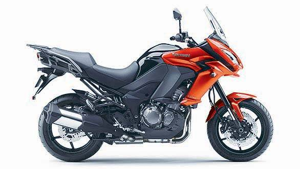 The Versys has a upright riding posture suited for touring