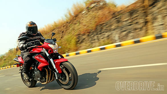 The BN feels calm to ride but with 80-odd PS available it isn't slow. But whether you're going slow or fast, the noise the four cylinder engine makes is loud and likeable