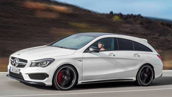 Unveiled alongside the CLA Shooting Brake is the AMG version, which uses the familiar 2.0-litre turbocharged four-cylinder engine that is mated to a 7-speed dual clutch transmission and Mercedes-AMG's 4MATIC  all-wheel drive mechanism