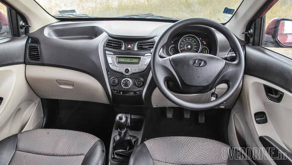 The Eon's dashboard has a classic symmetrical layout but has plenty of curves and creases