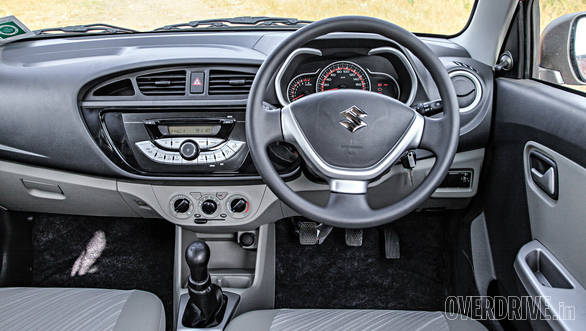 The Alto K10's dash looks simple and wide
